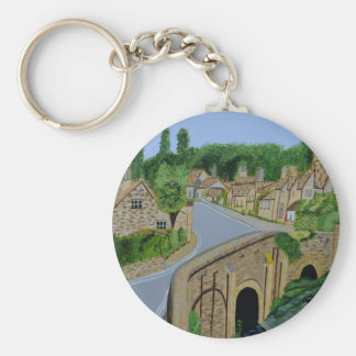Cotswolds England Basic Round Button Keychain