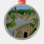 Cotswolds England Round Metal Christmas Ornament