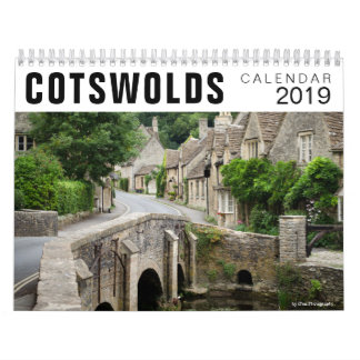 Cotswolds houses photography calendar 2019