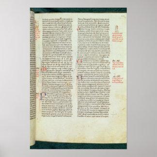Cott Nero D II f.114 Adriano IV Póster