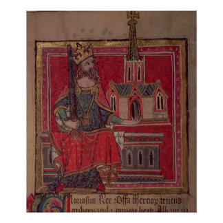 Cott Nero D VIII Offa, rey de Mercia Póster