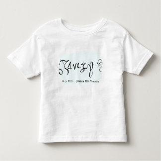 Cott Vesp F f.13 The Signature of Henry VIII Toddler T-shirt