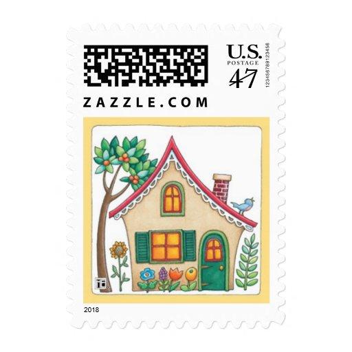 Cottage 3 postage stamp