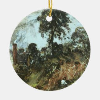 Cottage among Trees with a Sandbank, c.1830-36 (oi Ceramic Ornament