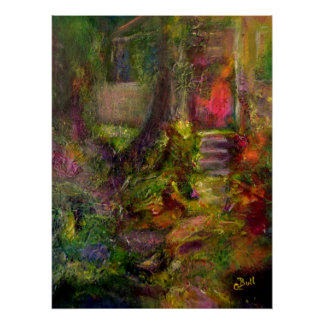 Cottage Art Painting Poster