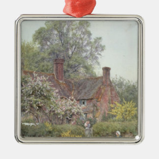 Cottage at Chiddingfold Metal Ornament