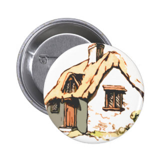 cottage pinback buttons
