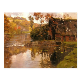 Cottage by a Stream by Frits Thaulow Postcard