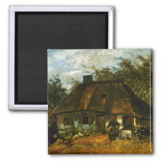 Cottage by Vincent van Gogh Refrigerator Magnet