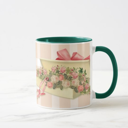 Cottage Chic Boxed Roses Mug