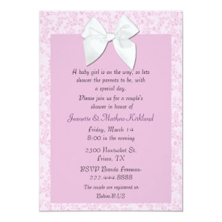 Cottage Chic Couple's Baby Girl Shower Invitation