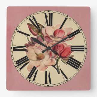 Cottage Chic Floral Wall Clock