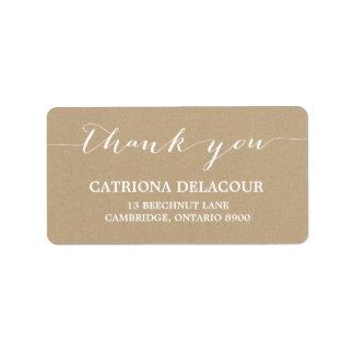 Cottage Chic Handwritten Script Address Label