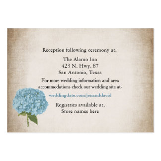 Cottage Chic Hydrangea Wedding Enclosure Card Large Business Card