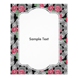 Cottage Chic Lace & Roses Garden Flyer