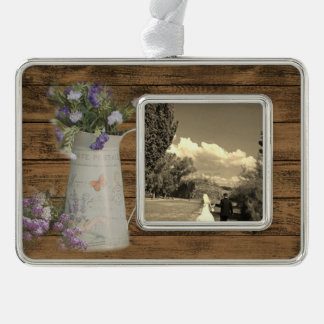 cottage chic lavender rustic barn wood christmas ornament