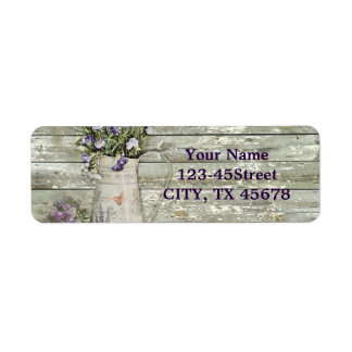 cottage chic lavender rustic barn wood label