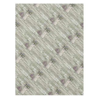 Cottage Chic Lavender Rustic Barn Wood Tablecloth