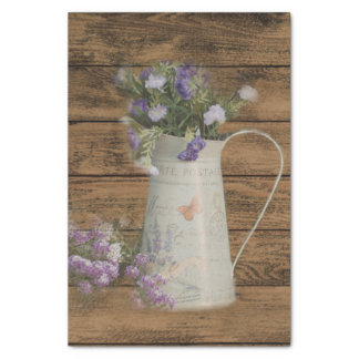 cottage chic lavender rustic barn wood tissue paper