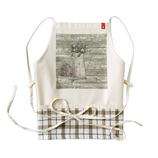 cottage chic lavender rustic barn wood zazzle HEART apron