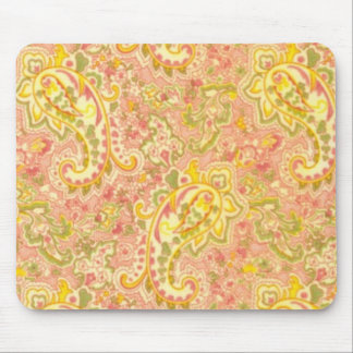 Cottage   chic PAISLEY Print Mouse Pad