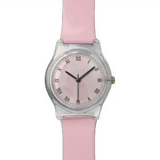 Cottage Chic Pale Pink Rose Photography Watch