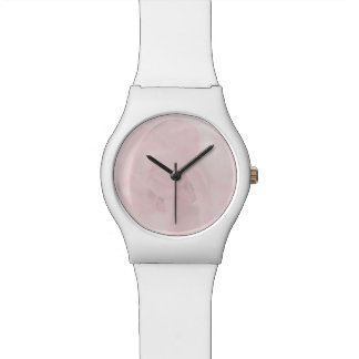 Cottage Chic Pale Pink Rose Photography Wrist Watches