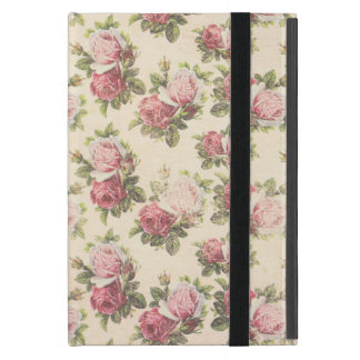 Cottage Chic Pink Roses iPad Mini Case
