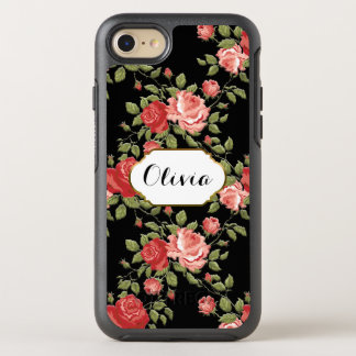 Cottage Chic Pink roses OtterBox Symmetry iPhone 7 Case