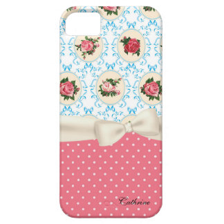 Cottage Chic Roses & Polka Dots iPhone SE/5/5s Case