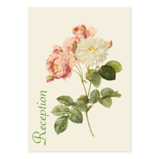 Cottage Chic Roses Wedding Enclosure Large Business Card