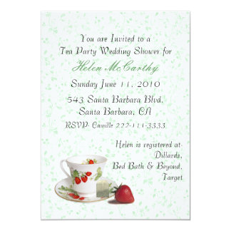 Cottage Chic Tea Party Invitation