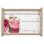 Cottage Chic Vintage Peonies Serving Tray