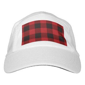 cottage Christmas Red buffalo lumberjack plaid Headsweats Hat