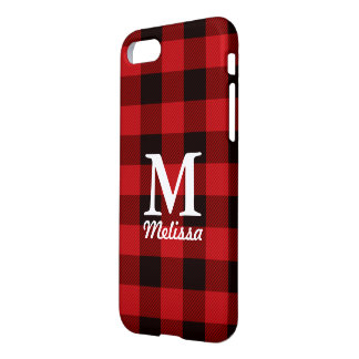 cottage Christmas Red buffalo lumberjack plaid iPhone 8/7 Case