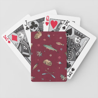 Cottage Country Bicycle Playing Cards