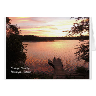 Cottage Country, Hastings, Ontario Canada Notecard