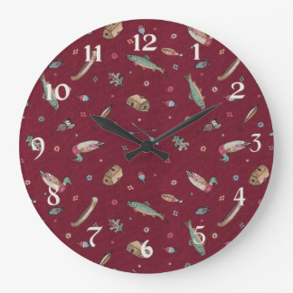 Cottage Country Large Clock