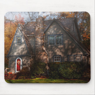 Cottage - Cranford, NJ - Autumn Cottage Mouse Pads