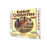 Cottage Eatmor Cranberries Brand Label Canvas Print