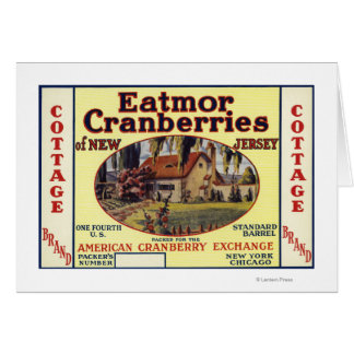 Cottage Eatmor Cranberries Brand Label Card