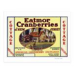 Cottage Eatmor Cranberries Brand Label Postcard