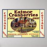 Cottage Eatmor Cranberries Brand Label Poster