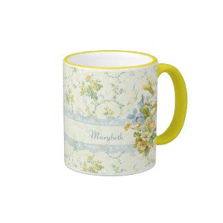 Cottage Floral Ringer Coffee Mug