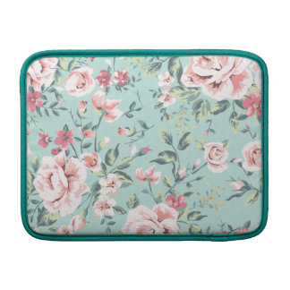 Cottage Floral Pattern Sleeve For MacBook Air