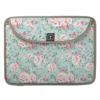 Cottage Floral Pattern Sleeve For MacBook Pro