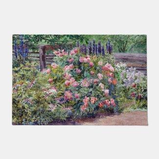 """Cottage Garden 24"""" x 36"""" Door Mat Doormat"""