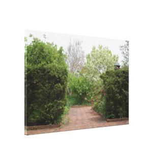 Cottage Garden Entrance Canvas Print