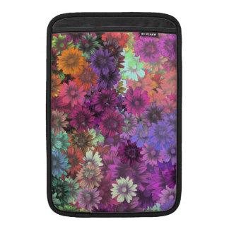 Cottage garden floral pattern MacBook air sleeves