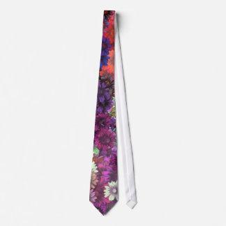 Cottage garden floral pattern tie